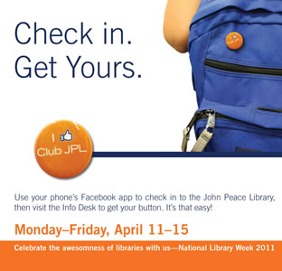 Library week promotion at UTSA