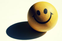 smiley face stress ball with shadow