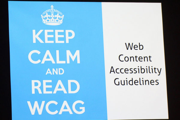 keep calm and read wcag guidelines
