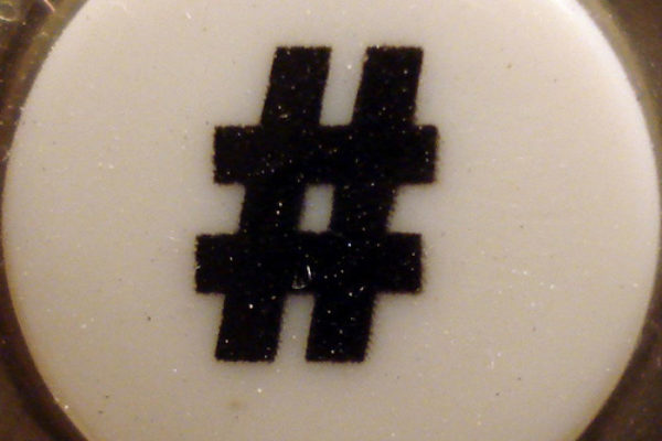 pound sign button on old phone - hashtag
