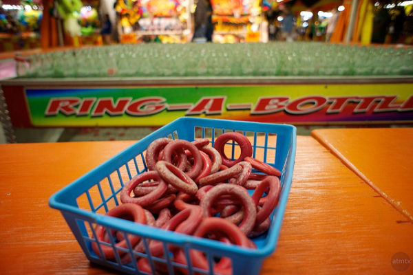 ring toss game at carnival