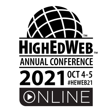 HighEdWeb annual conference logo, noting it is on October 4 and 5 online