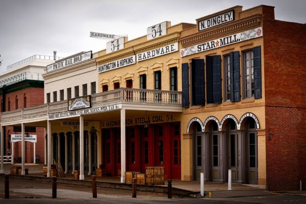 Old Sacramento storefronts